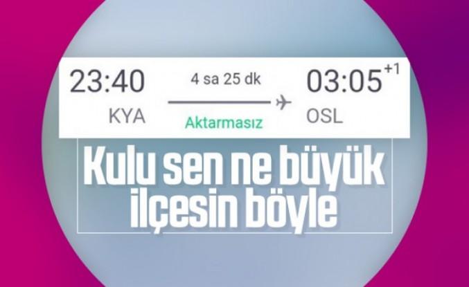 Konya'dan Norveç'e direkt uçuş var