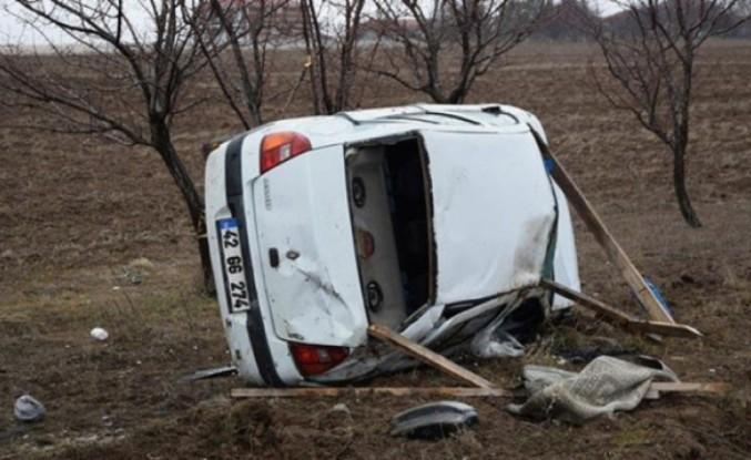 İsveç'ten Kulu'ya cenaze için giden gurbetçi trafik kazsında hayatını kaybetti