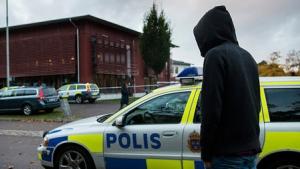 Şüpheli İsveçli polisleri böyle dövdü