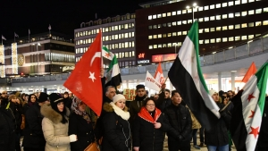 İsveç'te Halep Katliamı Protesto Edildi