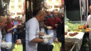 Çılgın çiğ köfteci Ali Usta İsveç için şov yaptı