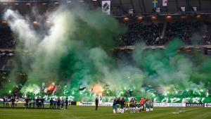 AIK, Hammbarby derbisinde adeta tribünler yandı