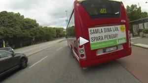 Stockholm'de otobüsler trafikte tehlike saçıyor