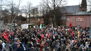 İsveç'te Trump ve İsrail protesto edildi