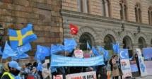 Çin zulmü İsveç'te protesto edildi