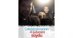 4 pizza şubesini soyan zanlı yakalandı