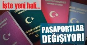 Pasaportlar değişiyor