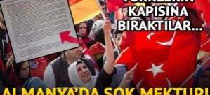 Almanya'da şok mektup! Türklerin kapısına bıraktılar