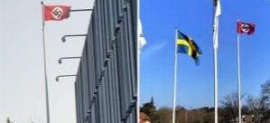 Hitler'in doğum gününde, İsveç'te 3 resmi binada Nazi bayrağı asıldı