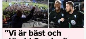 İsveç Ligi'nde Malmö şampiyonluğu garantiledi