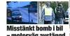 İsveç#039;te bomba yüklü araç...
