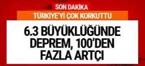 Son deprem Türkiye'de! 6.3'lük deprem tsunami yaptı