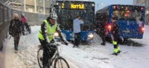 Stockholm beyaza büründü