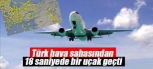 Türk hava sahasından 18 saniyede bir uçak geçti