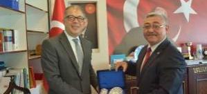 Türkiye'nin Yeni İsveç Büyükelçisi Yunt, Kulu Belediye Başkanı Yıldız'ı ziyaret etti