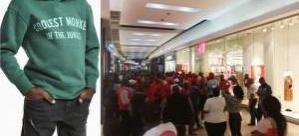 Ünlü giyim firması H&M'nin mağazalarına saldırı