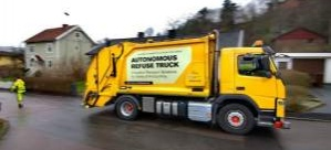 Volvo sürücüsüz çöp kamyonu yaptı!