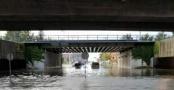Göteborg'u sağanak vurdu kentin bazı yerlerini sel aldı
