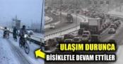 İsveç'te kar yağışı trafiği olumsuz etkiledi