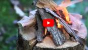 İsveç Ateşi Yöntemiyle Ağaç Kütüğünde Nasıl Mangal Yakılır