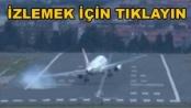 Stockholm'de şiddetli rüzgar uçakları iniş yaparken zorladı